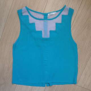 Turquoise Blue Sleeveless Top/Tank Size S