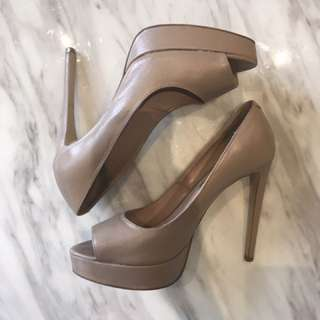 Tony Bianco Size 8.5 Peep Toe Nude Heels || FREE EXPRESS POST