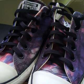 Authentic Converse Low Cut Galaxy Shoes