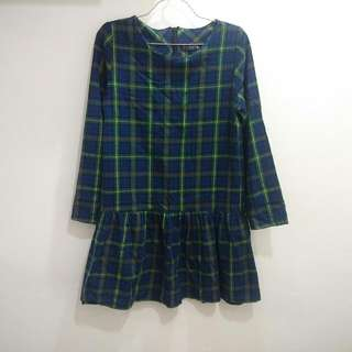 Plaids Dress/ Long Top