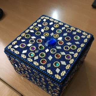 不丹珠寶首飾盒(藍)