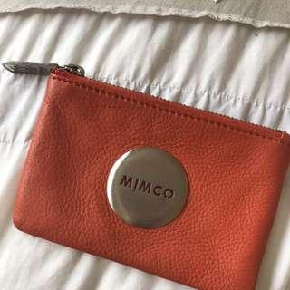 Orange Mimco Pouch