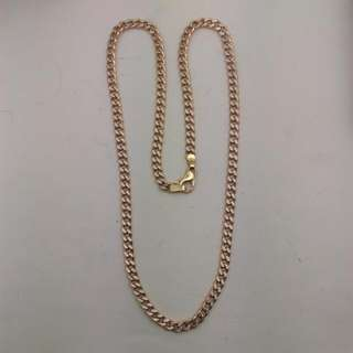 Genuine 10CT Two Tone Curb Link Necklace