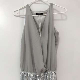 Sequin Silver Dress - Jane Norman