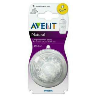 Avent 2 Natural New Born Teats