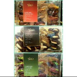 Dates with Almonds, Orange Peels & Pistachios from Dubai 200 grams-PreOrder