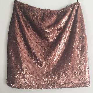 Copper Sequin Skirt