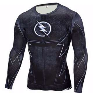 Black Flash Long Sleeve Top