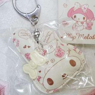 日本美樂蒂Melody皮質捏捏鑰匙圈