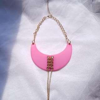 Kalung Rantai Pink