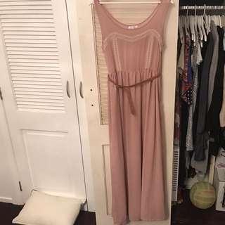 Gorgeous Soft Pink Long Dress