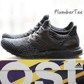 Men US 9 Adidas Ultra Boost Core Black | Dark Grey