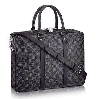 Black LV Damier Business Bag