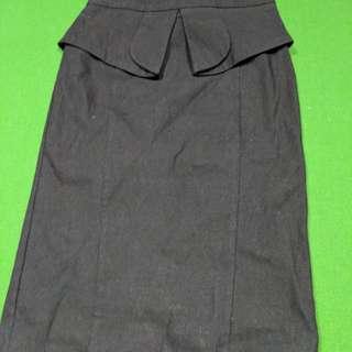 Black Forcast Skirt Size 8