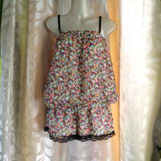 Floral Overall Short