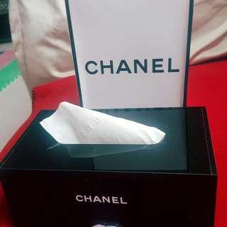 全新香奈兒高級衛生紙盒