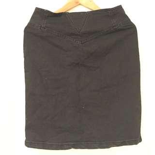 Factorie Black Denim Skirt