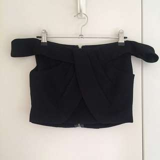 Black Off-the-shoulder Top