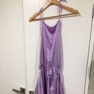 Purple halter