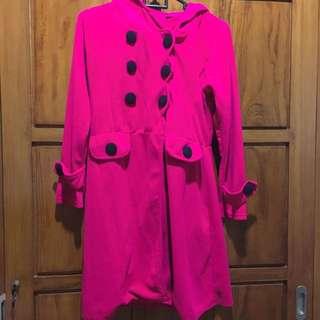 Fuchsia Pink Korean Coat (SALE PINDAHAN)