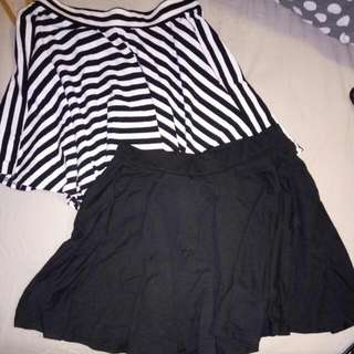 2x Stretchy Fabric Skirts