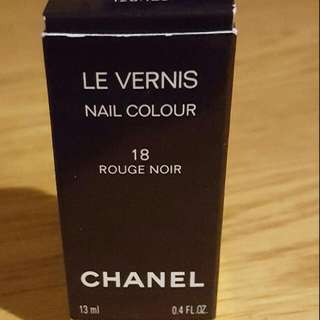 "Chanel Nail Varnish/Polish ""Rouge Noir"" 18"