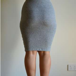 grey stretch skirt