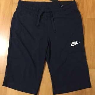 全新Nike 深藍短棉褲
