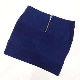 Dark Blue Mini Skirt (size 8)