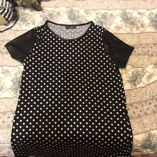 Polka Dot Tshirt Dress