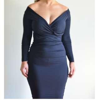 Kookai off the shoulder tight dress