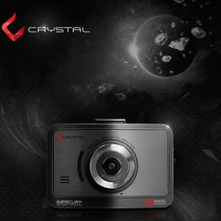 Front and Back [iMERCURY] CRYSTAL 2Ch. 3.5inch Touch LCD Car DVR Dash Camera Made in Korea