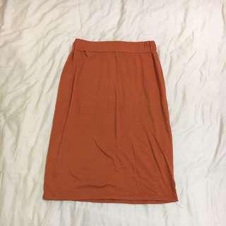 兩用橘色平口上衣(也可當棉裙穿)