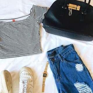 Zara Bf Jeans & H&M Croptop