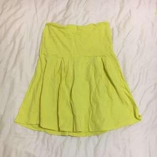 韓版黃色平口上衣