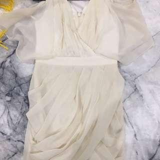 Cream Cocktail dress