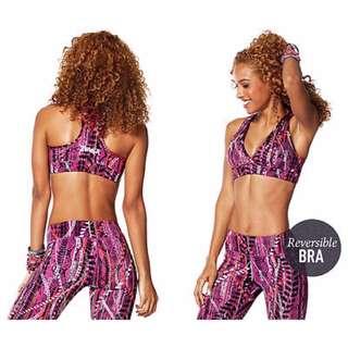 Preloved Zumba Repstyle Reversible Pink Bra Sz L