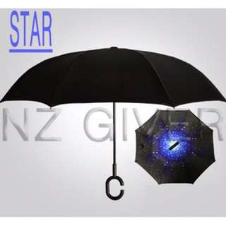 C Handle Reverse Umbrella- Star
