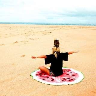 Round Beach Towel (Watermelon)
