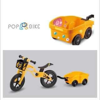 POPBIKE 兒童平衡滑步車專用配件 -(拖車 POP BIKE