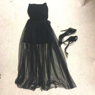 Black Lace Dress Size 8