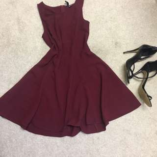 Sleeveless Red Dress Size 10