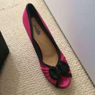 Fuchsia And Black Heels
