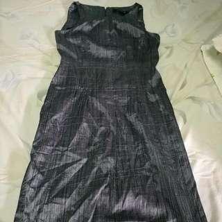 Silver Cute Dress Metallic