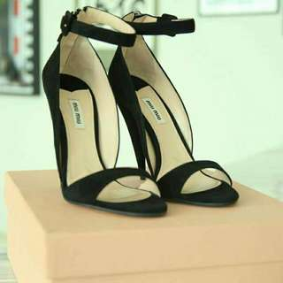 New Authentic Miu Miu Black Heels