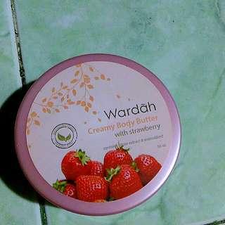 wardah body butter strawberry