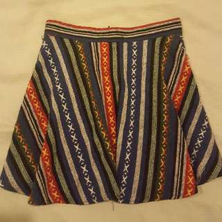 Aztec Patterned Skirt