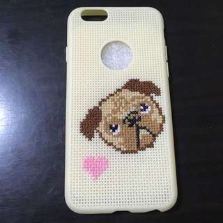 Iphone 6 Pug Stitched Case