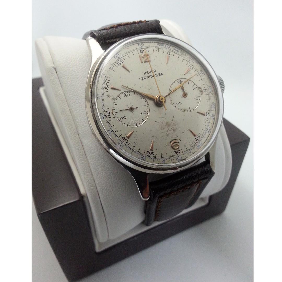 38mm Heuer Leonidas 1950s Chronograph