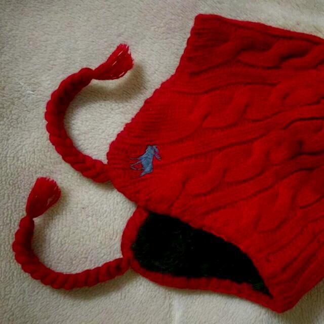 麋鹿紅色毛帽
